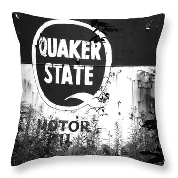 Quaker State Throw Pillow