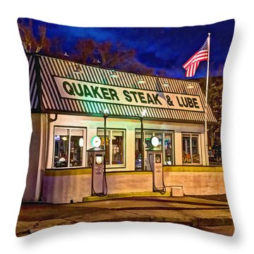 Quaker Steak And Lube Throw Pillow