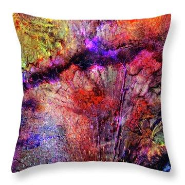 Throw Pillow featuring the digital art Qualias Bridge by Russell Kightley