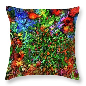 Throw Pillow featuring the digital art Qualia's Christmas by Russell Kightley