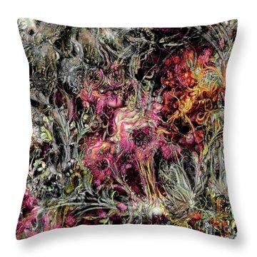 Throw Pillow featuring the digital art Qualia's Garden Summer by Russell Kightley