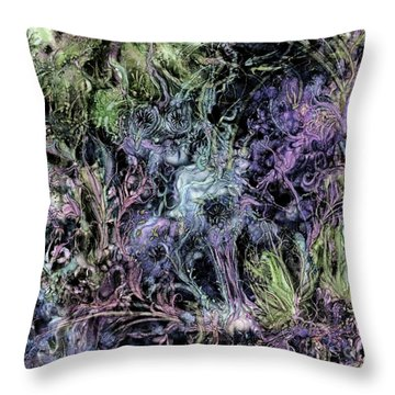 Throw Pillow featuring the digital art Qualia's Graden Winter by Russell Kightley