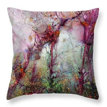 Throw Pillow featuring the digital art Qualias Meadow by Russell Kightley