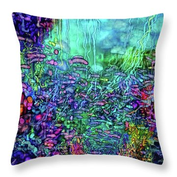 Throw Pillow featuring the digital art Qualia's Reef by Russell Kightley