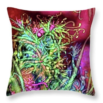 Throw Pillow featuring the digital art Qualia's Tree by Russell Kightley