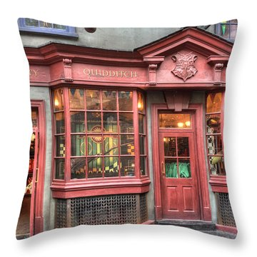 Throw Pillow featuring the photograph Quality Quidditch Supplies by Jim Thompson
