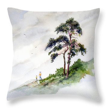 Throw Pillow featuring the painting Quality Time by Sam Sidders
