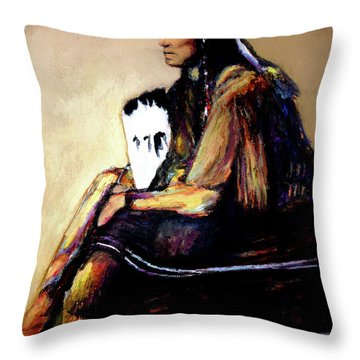 Quanah Parker The Last Comanche Chief II Throw Pillow