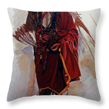 Quannah Parker Throw Pillow by Harvie Brown