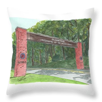 Quantico Welcome Throw Pillow