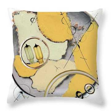 Throw Pillow featuring the painting Quantom Physics by Michal Mitak Mahgerefteh