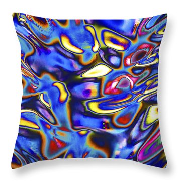Quantum Entangled Soul... Throw Pillow