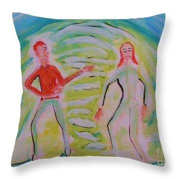 Quantum Entanglement Throw Pillow