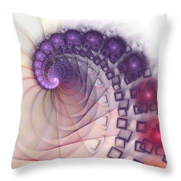Throw Pillow featuring the digital art Quantum Gravity by Anastasiya Malakhova