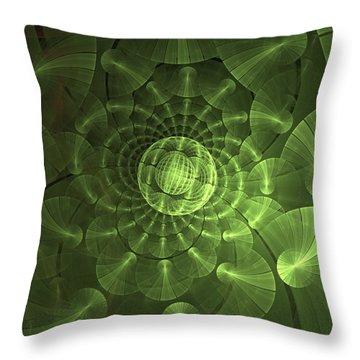 Throw Pillow featuring the digital art Quantum Plasma Signature by Lea Wiggins