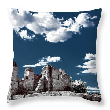 Quarai New Mexico - Infrared False Color Throw Pillow by Christine Till