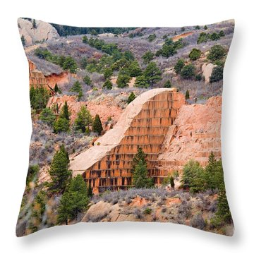 Quarry At Red Rock Canyon Colorado Springs Throw Pillow