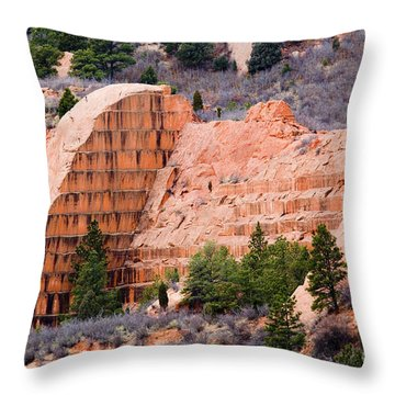 Quarry Closup At Red Rock Canyon Colorado Springs Throw Pillow