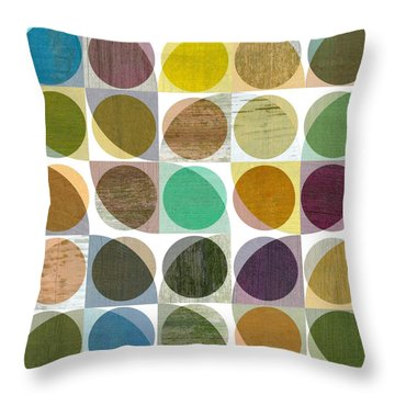 Throw Pillow featuring the digital art Quarter Circles Layer Project One by Michelle Calkins
