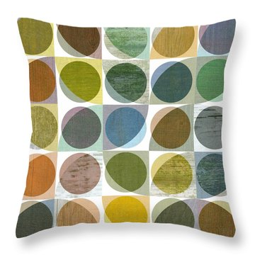Throw Pillow featuring the digital art Quarter Circles Layer Project Three by Michelle Calkins