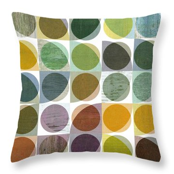 Throw Pillow featuring the digital art Quarter Circles Layer Project Two by Michelle Calkins