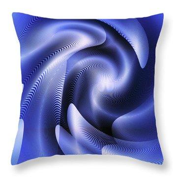 Throw Pillow featuring the digital art Quarter Moon by Visual Artist Frank Bonilla