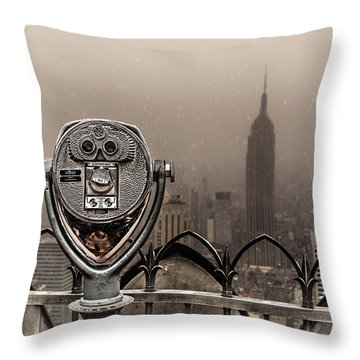 Throw Pillow featuring the photograph Quarters Only by Chris Lord