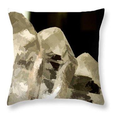 Quartz Crystal Cluster Throw Pillow