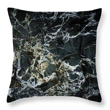 Quartz Veins Abstract 1 Throw Pillow