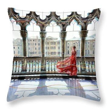 Quatrefoil Breeze Throw Pillow