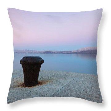 Quay In Dawn Throw Pillow