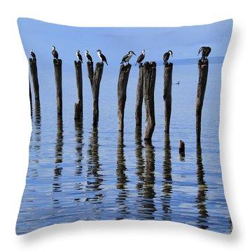 Quay Rest Throw Pillow