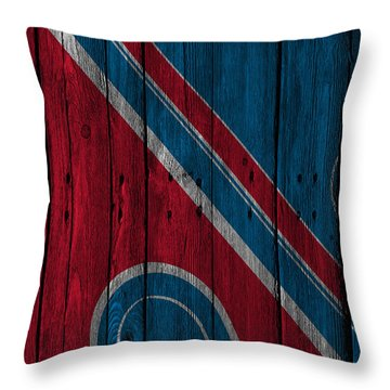 Quebec Nordiques Wood Fence Throw Pillow