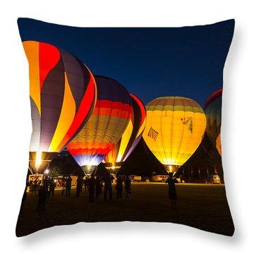 Quechee Balloon Festivial Throw Pillow