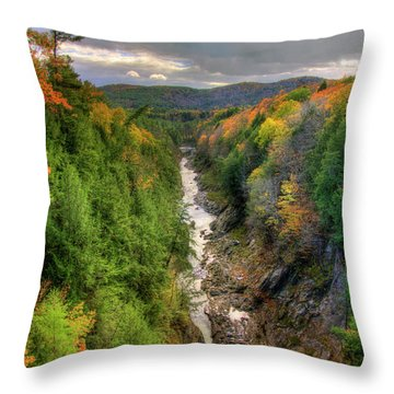 Throw Pillow featuring the photograph Quechee Gorge - Quechee Vermont by Joann Vitali