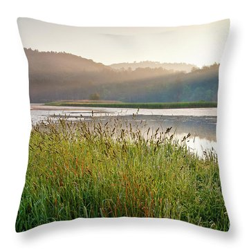 Quechee Sunrise Throw Pillow by Susan Cole Kelly