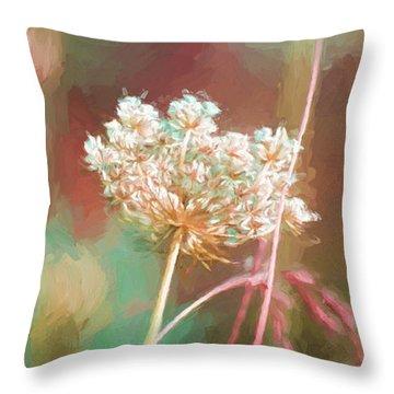 Queen Anne Impasto Throw Pillow by Bonnie Bruno