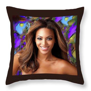 Queen Beyonce Throw Pillow