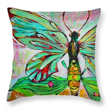 Queen Birdwing Throw Pillow
