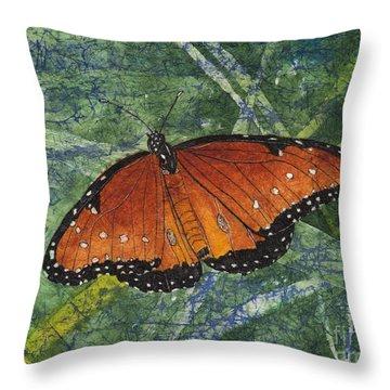 Queen Butterfly Watercolor Batik Throw Pillow