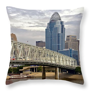 Queen City Throw Pillow