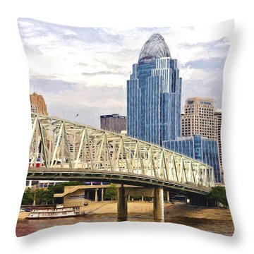 Queen City - Van Gogh Throw Pillow