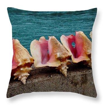 Queen Conch Throw Pillow