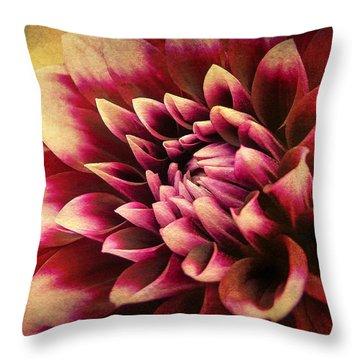 Queen Dahlia Throw Pillow