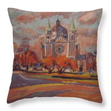 Queen Emma Square In Autumn Colours Throw Pillow