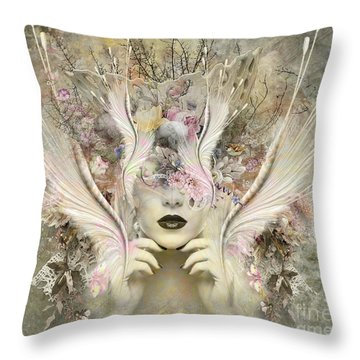 Queen Flora Throw Pillow