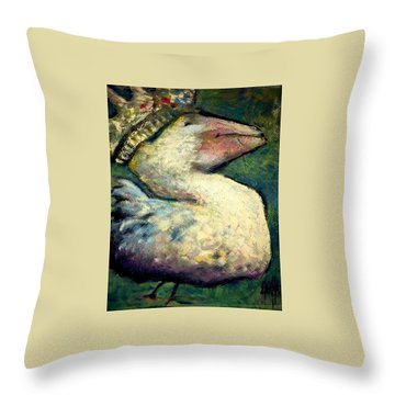 Queen Goose Throw Pillow