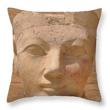 Queen Hatshepsut Throw Pillow