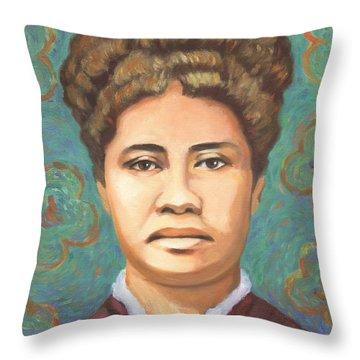 Queen Liliuokalani Throw Pillow