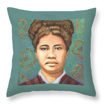 Queen Liliuokalani Throw Pillow